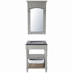 Salle De Bain Maison Du Monde : meuble vasque saint r my meuble de salle de bains gris maisons du monde ~ Teatrodelosmanantiales.com Idées de Décoration