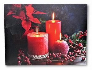 Led Wandbilder Shop : 2 wandbilder rote kerzen und teelichter led beleuchtet je 40 x 30 cm weihnachten 4251004216508 ~ Markanthonyermac.com Haus und Dekorationen