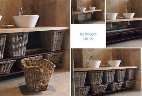 wicker basket bathroom furniture ikea hackers ikea hackers