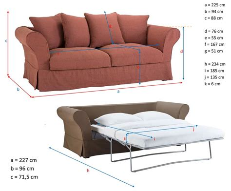 dimension canapé 3 places ᐅ test et avis du canapé convertible roma de maisons du monde