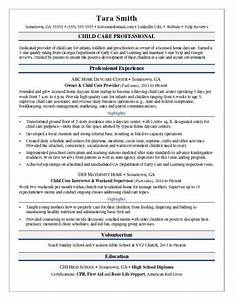 child care resume sample monstercom With childcare resume template