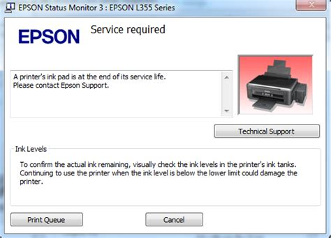epson l220 alternate red light blinking error download