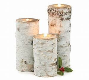 amazoncom set of 3 christmas winter holiday white birch With kitchen colors with white cabinets with birch bark candle holders
