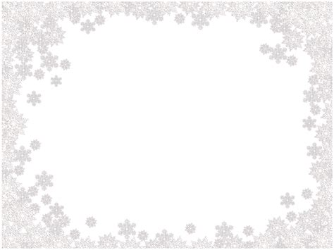 Transparent Background Snowflake Border by Snowflakes Border Frame Png Image
