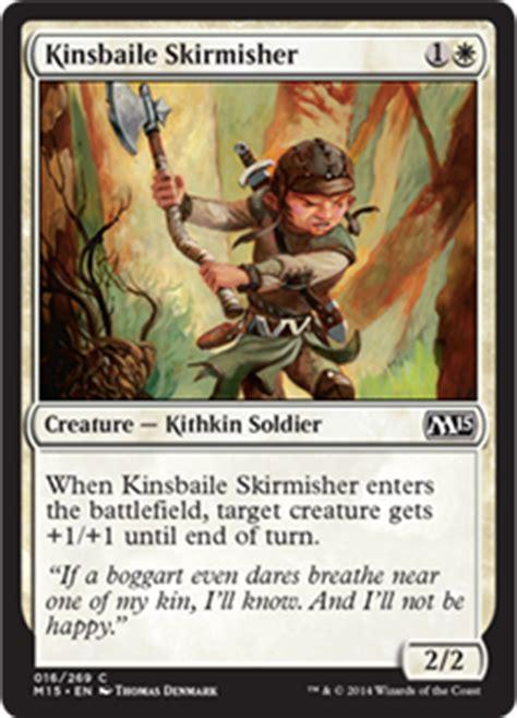 Deck Kithkin Modern 2015 by Kinsbaile Skirmisher Magic 2015 Set Gatherer