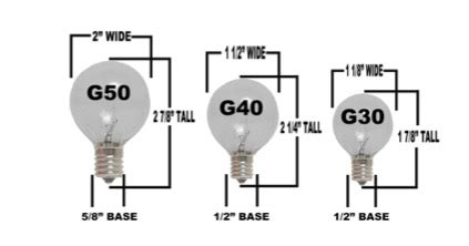 light g40 size comparrison compare outdoor globe lights with our easy to understand
