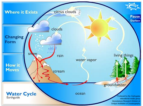 Water Cycle Diagram Earthguide by Category Water Water Cycle Outdoor School Multnomah