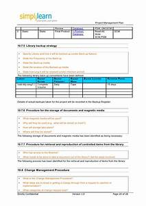 project management plan template With it backup plan template
