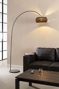 Lampadaire Moderne Salon : lampadaire moderne avec abat jour en carton ~ Teatrodelosmanantiales.com Idées de Décoration