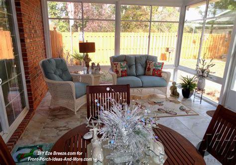 three season room decorating ideas screen porch windows create comfortable porch enclosures