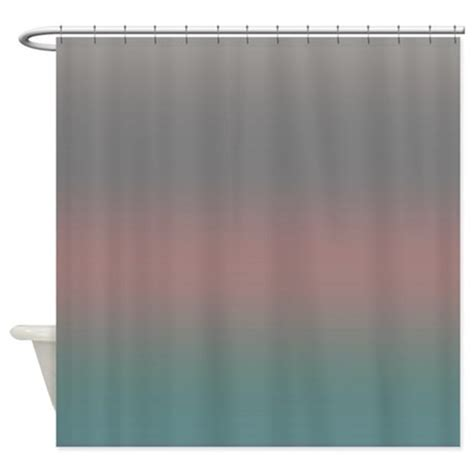 coral gray shower curtain by coppercreekdesignstudio