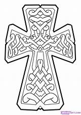Cross Celtic Draw Cool Step Designs Coloring Pages Clipart Crosses Drawing Wood Irish Cliparts Patterns Clip Christian Getdrawings Orthodox Zentangle sketch template