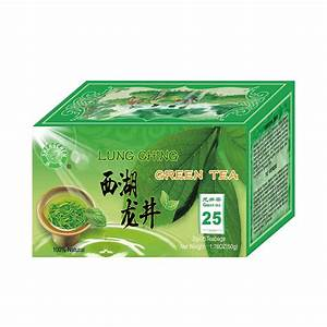 China Famous Dragon Well Lung Ching Green Tea West Lake Longjing Tea 2gx20 Bags Packing