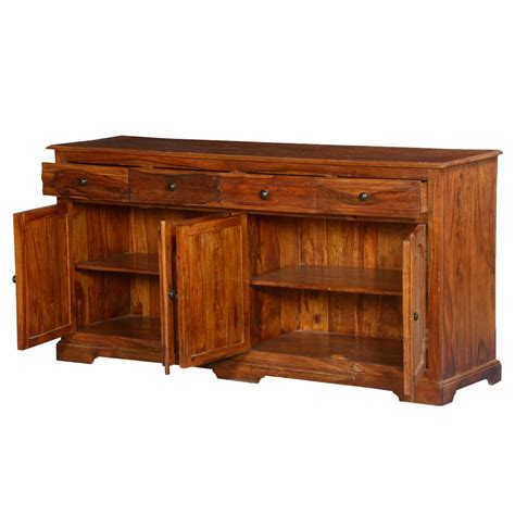 Solid Wood Sideboards by Early American Solid Wood 4 Drawer Sideboard