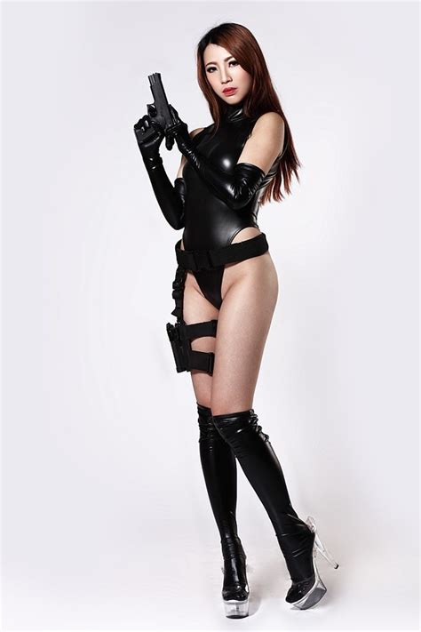 240D Latex Catsuit Body Suits For Women New Stretch Black