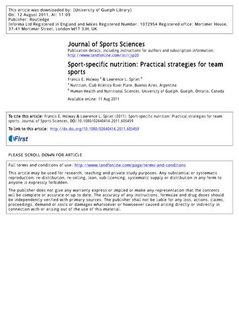 sport specific nutrition practical strategies