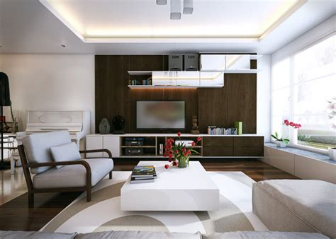 Modern Apartment For A Visualized by Five Apartments By Koj Design Visualized Interior
