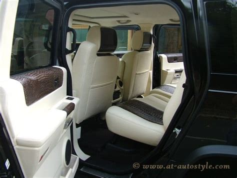 Hummer H2 Leather Interior. Hummer H2 Custom Design Full