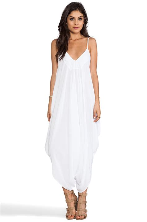 all white jumpsuit for indah ivory all in one jumpsuit in white in white lyst