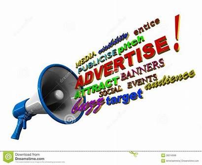 Words Advertise Megaphone Clipart Marketing Advertises Bullhorn
