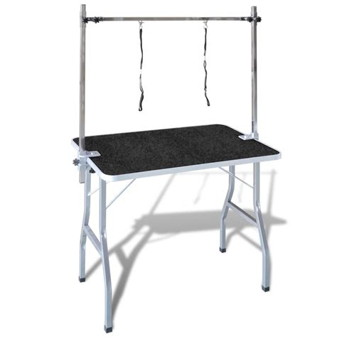 adjustable pet dog grooming table   nooses vidaxlcom