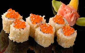 Download wallpaper sushi, Rolls, rice, roe free desktop ...