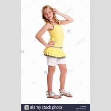 Schöne Süße Blonde Junger Teenager Mädchen Tragen