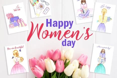 womens day card  march  card invitation templates