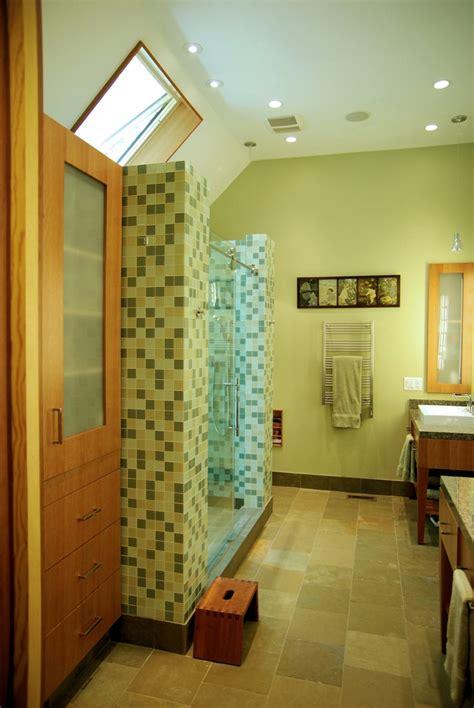 ann sacks glass  slate master bath  springmill