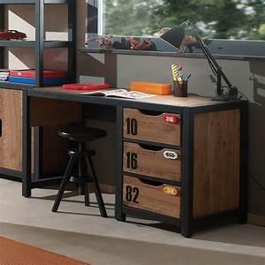 bureau adolescent 3 tiroirs industry zd1 buro ado c 001