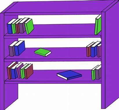 Shelf Clip Clipart Bookcase Books Vector Bookshelf