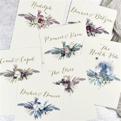 christmas wedding table names by julia eastwood