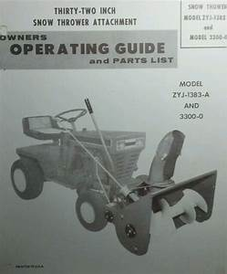 Yard Man Riding Mower Lawn Tractor Snow Thrower Implement