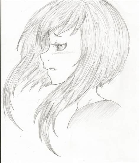 Anime Eyes From The Side Manga Girl Hair Side View Eyes Side View Anime And
