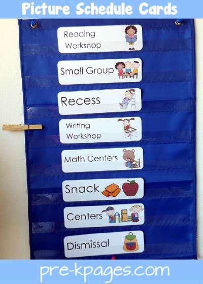 preschool schedule cards visual support tips in the preschool class organizing 882