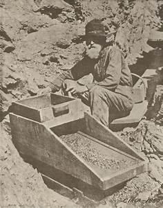 Western Prospector Gold Rush Miner U0026 39 S Cradle Vintage Photo