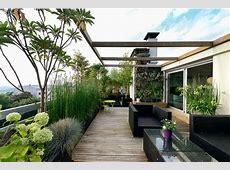 20 Desain Ruang Santai Taman Atap Nuansa Pemandangan