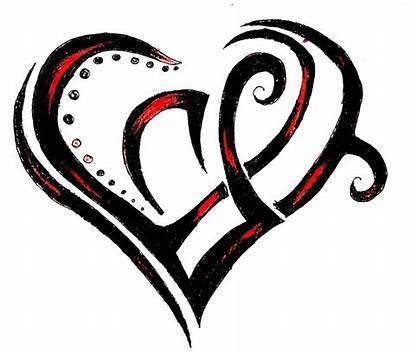 Tattoo Heart Clip Tattoos Tribal Clipart Designs
