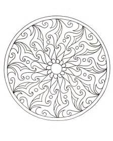 Adult Mandala Coloring Pages Words