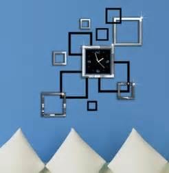 wohnzimmer uhren modern hauptdekoration spiegeleffekt ring wanduhr modernes design 3d interior dekoration wohnzimmer