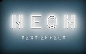 Free Neon PSD Text Effect TitanUI