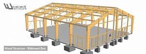 Hangar En Kit Bois : b timent bois wood structure ~ Premium-room.com Idées de Décoration