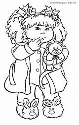 Cabbage Patch Coloring Pages Cartoon Sheets Colouring Printable Doll Character Adults Coloringpages101 Drawings Easy Kid Dolls Printables Colour Books Stuff sketch template