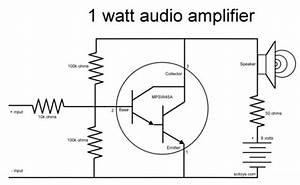 Elektronik Projeler   1 Wattl U0131k Basit Bir Anfi