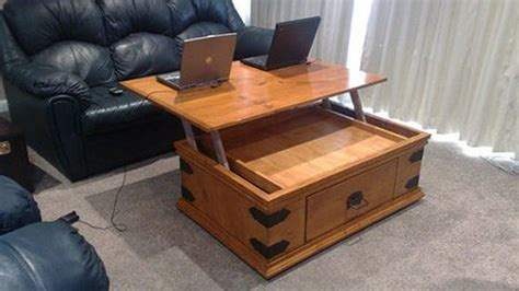Hack Your Coffee Table To Add A Lift Up Top   Lifehacker Australia