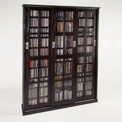 Storage Benches At Target by 61 Quot Triple Cd Dvd Wall Media Storage Cabinet In Espresso