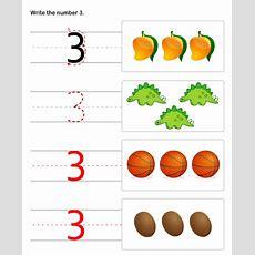 Numbers Worksheets For Preschool And Kindergarten