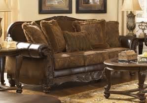 claremore sofa glynallen teak by ashley furniture