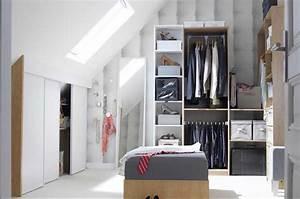 Kleiderschrank Für Dachschräge : begehbarer kleiderschrank dachschr ge aus mdf mit moderne design ~ Markanthonyermac.com Haus und Dekorationen