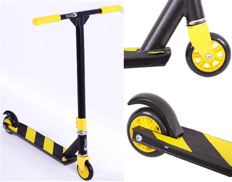 Pro Black Fixed Stunt Street Jump Ramp Scooter With 4